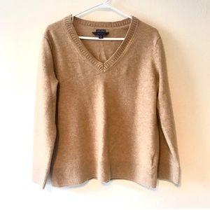 Tommy Hilfiger Cashmere V-Neck Sandy Sweater XL